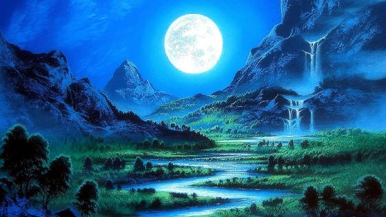 beautiful-coloured-drawings-of-nature-waterfalls-scenery-moon-beautiful-stunning-cool-moonlight-pre.jpg